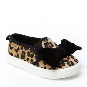Oshkosh Leopard Print Faux Fur Slip On Sneakers